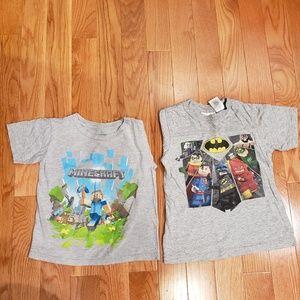 3 for $25 ❤ Lot of 2 - 1 Lego + 1 Minecraft tshirt
